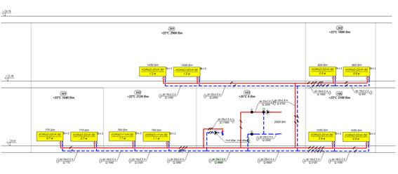 Растёт отопления коттеджа в гидравлической программе AQUAPEX C.O.